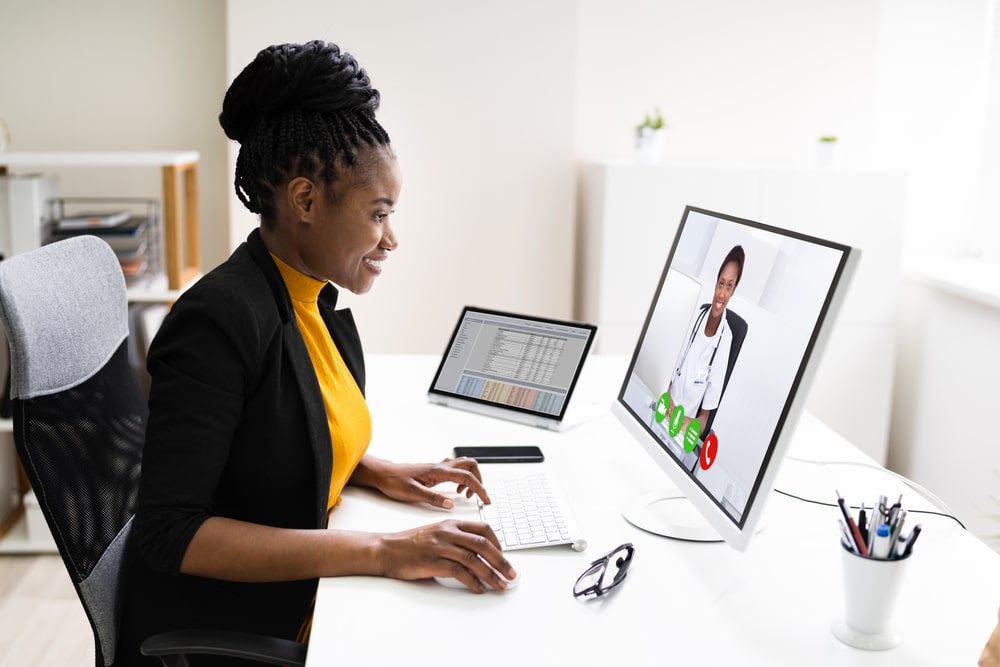 Telemedicine from the office - in Nigeria.